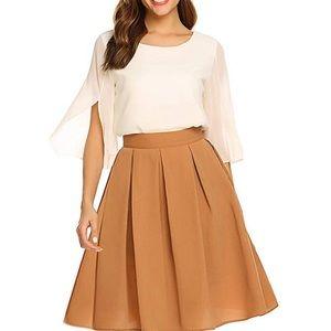 Dresses & Skirts - Women's Midi Skirt High Waist A-Line